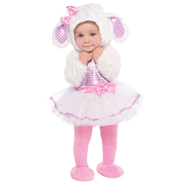 Little Lamb Costume Toddlers Fancy Dress Outfit